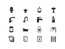 Instalacj wodnokanalizacyjnych ikony Lyra serie Obrazy Stock