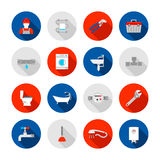 Instalacj wodnokanalizacyjnych ikony ustawiać ilustracji