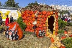 Instalacja - dom dojrzałe pomarańczowe banie Zdjęcie Stock