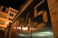 Instalacja przedstawia rocznicę wyzwolenie zilina Zdjęcie Royalty Free