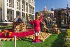 Instalacja - scena na cyrkowym temacie Postacie zwierzęta a Fotografia Royalty Free