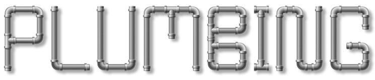 Instalacja wodnokanalizacyjna tekst Fotografia Stock
