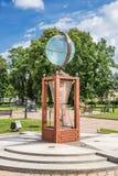Instalacyjny The Globe na terytorium Wodny Wszechrzeczy muzealny kompleks, St Petersburg Zdjęcie Royalty Free