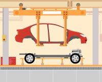 Instalacyjny samochodowy ciało Obrazy Royalty Free