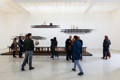 Instalacyjny widok Remy Jungerman, tytułujący pomiar obecność dla Holenderskiego pawilonu przy 58th Wenecja Biennale, 2019 obraz stock
