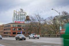 Instalado originalmente em 1940, o sinal foi mudado a fotos de stock royalty free