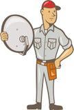 Instalador Guy Standing da televisão por cabo Imagem de Stock
