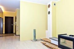 Instalando os fogões de madeira Fotografia de Stock Royalty Free