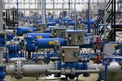 Instalation del gas Immagini Stock Libere da Diritti