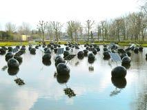 Instalation di arte su acqua a Eindhoven 0634 Immagini Stock Libere da Diritti