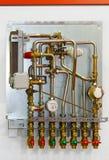 Instalation do aquecimento Fotos de Stock Royalty Free