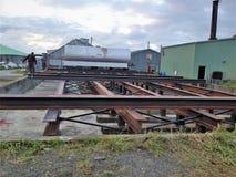 Instalation do depósito de gasolina em Alaska foto de stock royalty free