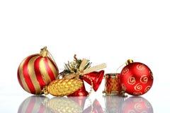 Instale el fondo de la tarjeta de felicitación de la Navidad, sobre el vidrio, cierre, aislado en el fondo blanco Fotografía de archivo libre de regalías