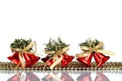 Instale el fondo de la tarjeta de felicitación de la Navidad, sobre el vidrio, cierre, aislado en el fondo blanco Fotos de archivo