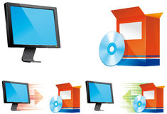 Free Install And Uninstall Icons Royalty Free Stock Photos - 14484598
