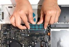 Install memory laptop Stock Photos