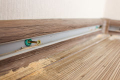 Install new baseboards Stock Photography