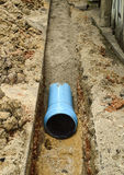 Install new pvc pipe. For domestic water supply Royalty Free Stock Photo
