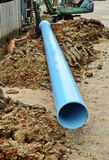 Install new pvc pipe. For domestic water supply Royalty Free Stock Photography