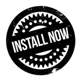 Install Now rubber stamp Stock Photography
