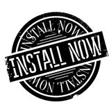 Install Now rubber stamp Stock Images