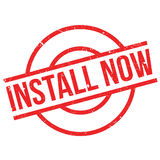 Install Now rubber stamp Royalty Free Stock Image