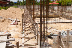 Install rebar and formwork Royalty Free Stock Image
