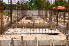 Install rebar and formwork Stock Photo