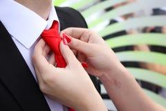 Install tie Stock Image