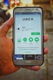 Install Uber App Royalty Free Stock Photos