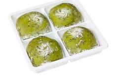 Primo piano del daifuku giapponese, sapore del tè verde. Fotografie Stock