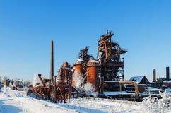 Installatie - Museum van de geschiedenis van mijnbouwtechnologie Stock Fotografie