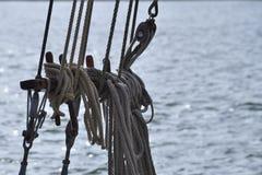 Installatie op zee Stock Foto's