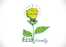 Installatie van de Eco de vriendschappelijke gloeilamp Stock Foto