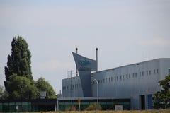 Installatie van de fabriek van de Ooievaarsfokker in Papendrecht stock foto