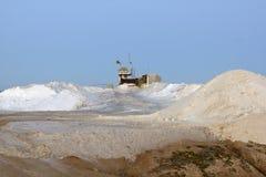 Installatie voor de extractie van zout Stock Foto