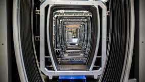 Installatie voor de productie van metroauto's royalty-vrije stock foto's