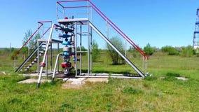 Installatie voor gasproductie stock footage