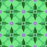 Installaties bloemen geometrisch patroon Royalty-vrije Stock Foto's