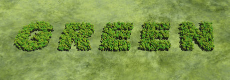 Installaties die groen woord vormen Royalty-vrije Stock Foto