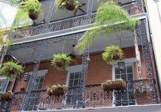 Installaties en balkon stock afbeelding