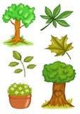 Installaties en bomen Stock Foto's