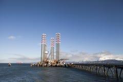 Installation élévatrice en Alaska Image libre de droits