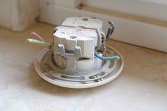 installation électrique de ¼ de ¿ d'ï de ¼ de ¿ d'ï vieille Images libres de droits
