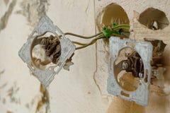 installation électrique de ¼ de ¿ d'ï de ¼ de ¿ d'ï vieille Photo libre de droits