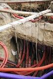 Installation électrique souterraine neuve Photographie stock