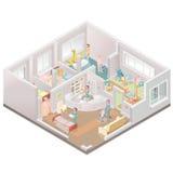 Installation aider-vivante de maison de repos illustration libre de droits