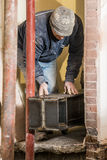 Installation av den stora stålstrålen Royaltyfri Fotografi
