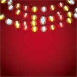 Installation av garnering för julljus Arkivbilder