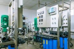Installation av industriella membranapparater Arkivbilder